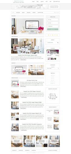 Pretty Chic WordPress theme via Blog Design, Web Design, Brand Fonts, Business Branding, Business Tips, Best Wordpress Themes, Cute Designs, Design Elements, Chic