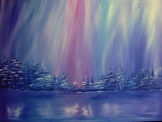 Northern Lights Pink by angelasowdon on Etsy, Art Work, Natural Beauty, Theatre, Northern Lights, Art Gallery, My Arts, Studio, Illustration, Nature