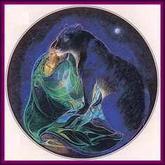 Panther protecting couple By Susan Seddon Boulet. ~♥~ ~♥~ ♥~ ~♥~