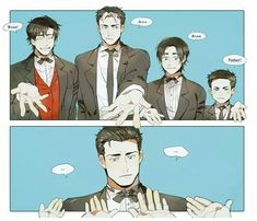 Takes none of their hands and goes to Alfred.<<Or he suddenly grows five hands and takes all of their hands, including Alfred's. Cause, you know, he's Batman. <~~~ he could take the younger twos hands and link arms with the older two Superman X Batman, Batman Robin, Batman Cat, Batman Arkham, Catwoman, Batgirl, Nightwing, Wayne Family, Bat Family