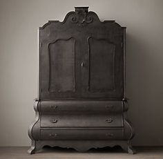 Shelving & Cabinets | Restoration Hardware this piece is so Victorian! I love the shape and the old look of the black.