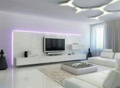 #sala de #tv #ampla #clean #branca