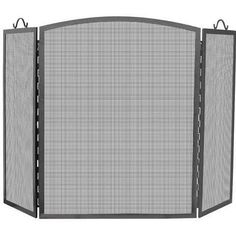 Uniflame® Arched 3-Panel Olde World Wrought Iron Fireplace Fire Screen with Handles