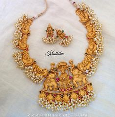 Hippie Jewelry Stores Near Me nor Jewellery Bonney since Tanishq Heavy Gold Necklace Set Designs With Price India Jewelry, Temple Jewellery, Gold Jewellery, Jewellery Shops, Jewellery Making, Jewelry Stores, Antique Pearl Necklace, Antique Jewelry, Antique Gold