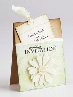 Pocket Wedding Invitation @Katy Fox