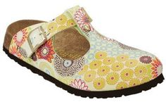 Papillio ''Frankfurt'' from Birko-Flor in Field of Flowers Green with a regular insole Papillio. $56.19
