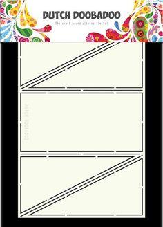 Dutch Doobadoo - Dutch Card Art - Diagonal Fold x cm Christmas Cards, Merry Christmas, Card Making Templates, Folded Cards, Dutch, Paper Crafts, Letters, Art Cards, Gate