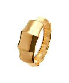 Take a look at this Gold Pointed Edge Hinged Bangle by Suvelle on #zulily today!