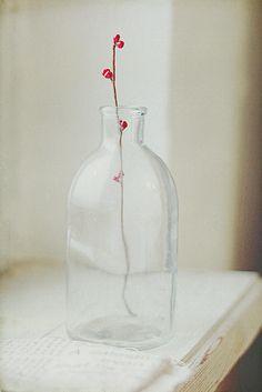 The simplest vase/flower I've come across. Sweet.