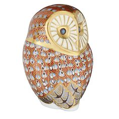 Buy Royal Crown Derby Barn Owl Paperweight from our Ornaments range at John Lewis & Partners. 22 Carat Gold, Royal Crown Derby, Large Eyes, Joy And Happiness, Paper Weights, Red And Blue, Floral Design, Owl, Barn