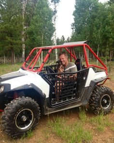 #Tallulah loves getting her 1 on 1 time with me by going out for a ride in the #RZR. Ha ha