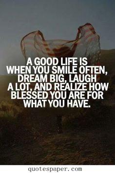 A good life...x