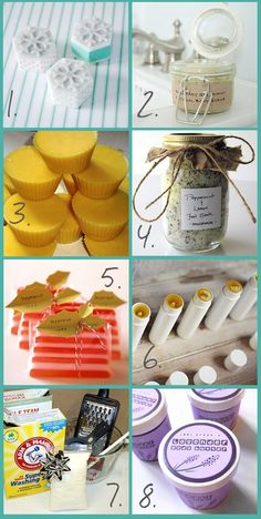 Let out your creative juices and save some money with these 8 #DIY Bath and Beauty #Gifts.