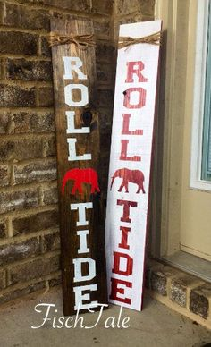 Roll Tide Welcome Sign - Welcome - football sign - Welcome sign with elephant - Wooden home sign - rtr wooden sign - wood elephant sign Welcome Signs Front Door, Welcome Wood Sign, Front Porch Signs, Alabama Decor, Sweet Home Alabama, Alabama Crafts, Diy Mason Jar Lights, Mason Jar Diy, Diy Signs