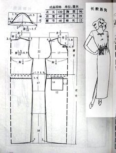 Cheongsam dress design and tailoring Dress Making Patterns, Pattern Making, Sewing Basics, Sewing Hacks, Fashion Sewing, Diy Fashion, Sewing Clothes, Diy Clothes, Clothing Patterns