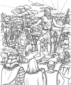 John the Baptist Preaching in the Wilderness coloring page ...