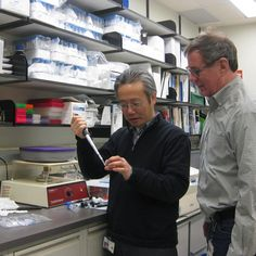 Robert J. Hohman, Ph.D., Research Technologies Branch Chief and Associate Director for Research Technologies, overlooks Staff #scientist Ming Zhao as he separates and analyzes a protein sample submitted by a NIAID #researcher. During the past 30 years, the Research Technologies Branch has supported NIAID investigator\'s #bioinformatics needs, evaluated new #technology, and developed project-specific applications.
