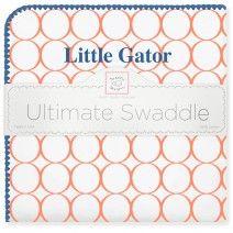Ultimate Swaddle Blanket - University of Florida #MadeinUSA #MadeinAmerica #UScotton #BabyShower #Nursery #TeamSpirit #UniversitySpirit #Gators #LittleGator