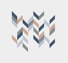 geometric chevron modern cross stitch pattern retro by futska