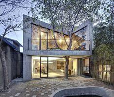 6 projetos de arquitetura incríveis com árvores dentro