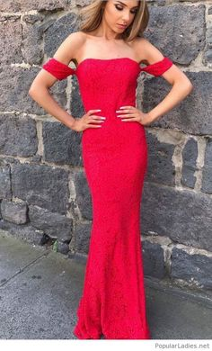 ce4f6af72d27c Amazing long red dress from lace