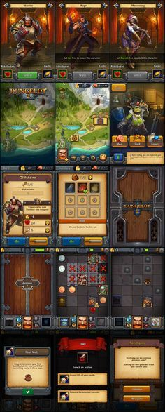 Dungelot 2 game user interface gui ui | Create your own roleplaying game material w/ RPG Bard: www.rpgbard.com | Writing inspiration for Dungeons and Dragons DND D&D Pathfinder PFRPG Warhammer 40k Star Wars Shadowrun Call of Cthulhu Lord of the Rings LoTR + d20 fantasy science fiction scifi horror design | Not Trusty Sword art: click artwork for source