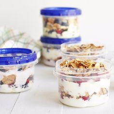 Yogurt, Berry, and Cereal Parfaits, the Meal Prep Way: The following is a post that was originally featured on The Chic Site and written by Rachel Hollis, who is part of POPSUGAR Select Food.