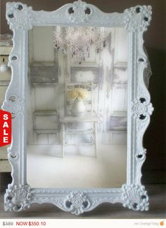 Holiday Sale - A beautiful mirror should not only reveal your image when you gaze into it, it should work double duty and display your sense