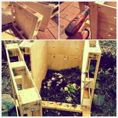 DIY Upcycled compost bin