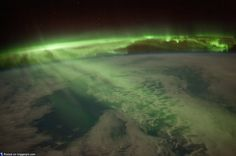 Aurora from space station.
