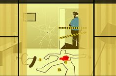 Emiliano Ponzi's dark illustrated glimpse into the lives of others - the Sunrise Hotel series