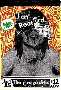 Jay Reatard + Thee Oh Sees (gig poster)