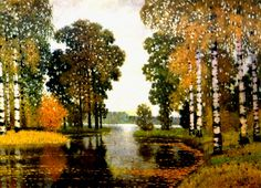 """Postcards from the Past: Vilhelms Purvītis: """"Autumn"""". I totally love this. 1920-s and 30-s Latvian art is my favourite by far."""