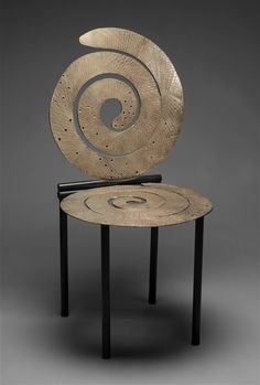 Chair by Michele Oka Doner. Photo Detroit Institute of Arts Unusual Furniture, Cool Furniture, Furniture Design, Art Cart, Love Chair, Metal Chairs, Furniture Inspiration, Modern Chairs, Art Decor