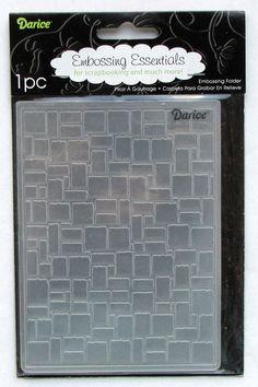 Darice brick wall A2 Embossing Folder