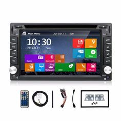 (79.00$)  Watch now  - 6.2 INCH Double 2 Din Car DVD Player FM AM Radio Bluetooth Call Music Video Audio In Deck PC Head Unit camera car parking Mirro