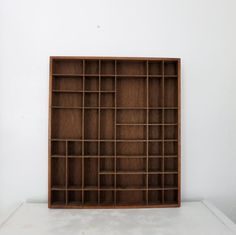 Vintage Wooden Curio Shelf Wall Hanging Cubby by OleaVintage, $36.00