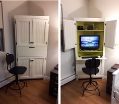 Ana White | Corner computer cabinet - DIY Projects