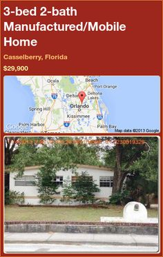 3-bed 2-bath Manufactured/Mobile Home in Casselberry, Florida ►$29,900 #PropertyForSale #RealEstate #Florida http://florida-magic.com/properties/83628-manufactured-mobile-home-for-sale-in-casselberry-florida-with-3-bedroom-2-bathroom