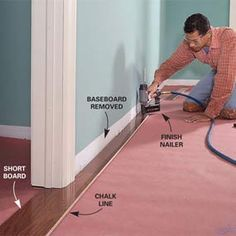 installing wood laminate flooring- This site has DIY everything home improvement. The Family Handyman