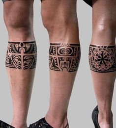 Aztec tattoos are popular today due to its beautiful patterns. Photos of Aztec tattoos you may find in our gallery! Leg Band Tattoos, Body Art Tattoos, Sleeve Tattoos, Calf Tattoos, Tattoo Art, Tatoos, Maori Tattoo Frau, Samoan Tattoo, Polynesian Tattoos
