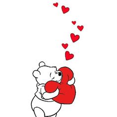 ♡ My Fun Valentine ♡ Feel like this is my heart being hugged just LOVE Winnie the Pooh !
