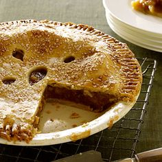 Surprisingly Light Apple Pie    Whip up this versatile version with Winesap, Northern Spy, Golden Delicious, or Braeburn apples. Or use a combination of a few of your favorites to give a better texture to your filling. The result? A slice that's 155 calories lighter than traditional pies!