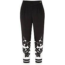 Buy Ted Baker Floral Printed Trousers, Black Online at johnlewis.com