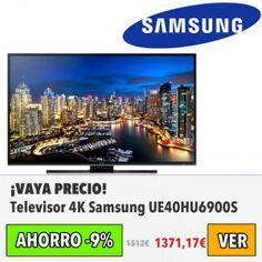 Televisor 4K Samsung UE40HU6900S. #ofertas #descuentos