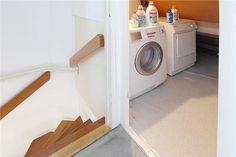 wasmachine-aansluiting op zolderkamer in nis