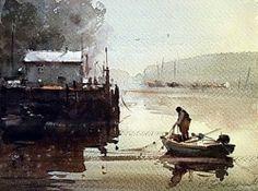 dusan-djukaric-fisherman-on-the-ada-32x24-cm
