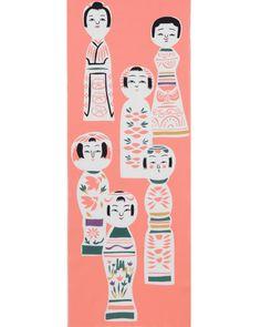 diseño de kokeshi