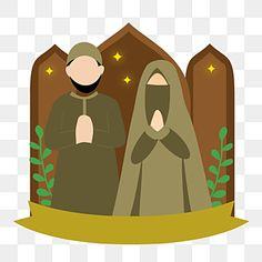 Family Illustration, Cute Illustration, Happy Ied Mubarak, Cute Couple Comics, Cute Muslim Couples, Islamic Cartoon, Muslim Family, Anime Muslim, Hijab Cartoon
