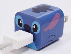 Ultimum Vitae:Disney Apple iPhone Power Adapter Skin Sticker Decoration Wrap - Sticker Only Not Include USB (Stitch) Lelo And Stitch, Lilo Y Stitch, Cute Stitch, Disney Stitch, Cute Disney, Disney Art, Objet Wtf, Peluche Stitch, Accessoires Iphone